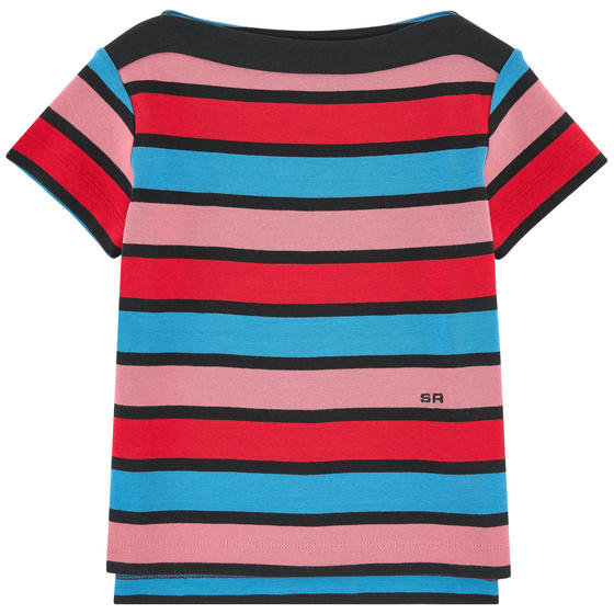 Knitted Stripe T-shirt
