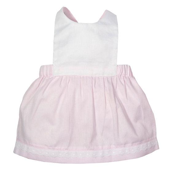 Pink Cotton Pinafore Dress