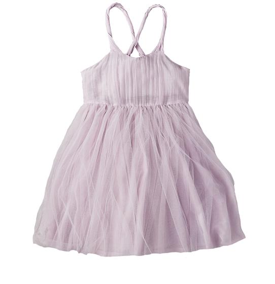 Lavender Tulle Overlay Dress