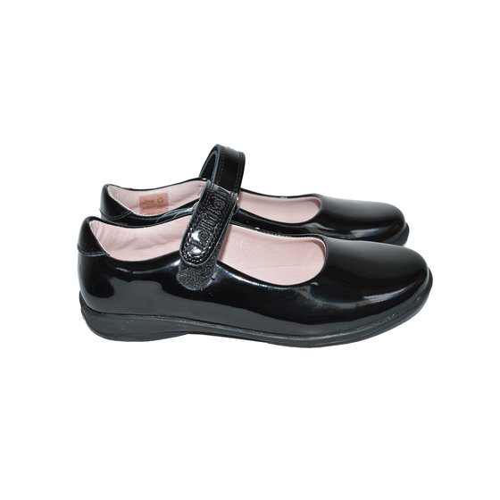 Classic Black Patent School Shoes