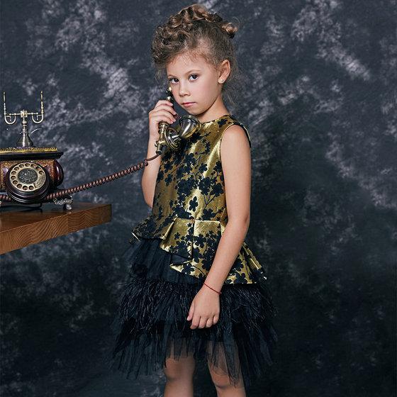 Black & Gold Devine Dress