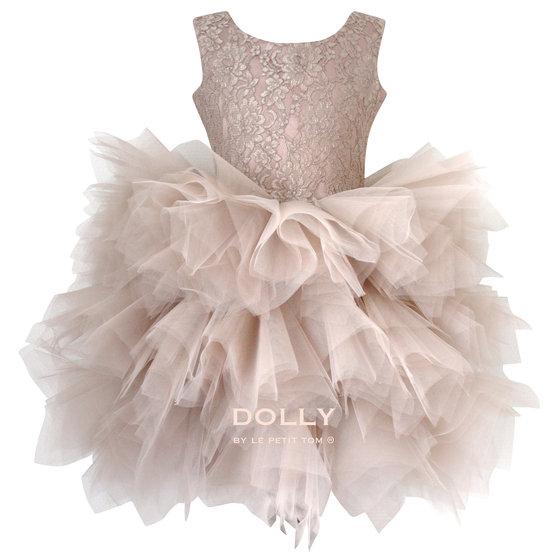 Ballerina Style Taupe Tutu Dress