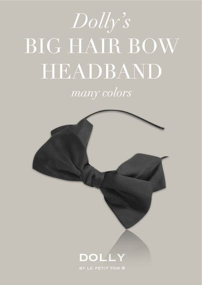 Black Big Hair Bow Headband