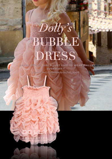 Ballet Pink Fluffy Bubble Dress