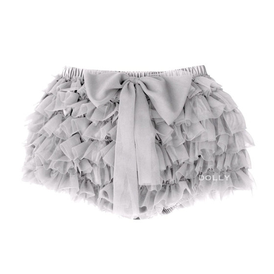 Silver Grey Frilly Tutu Bloomer