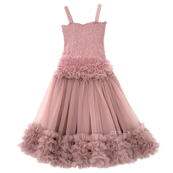 Mauve Frilly Top and Tutu Skirt Set