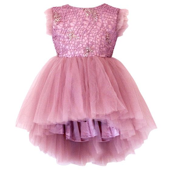 Girls Dusty Pink Sequin Dress