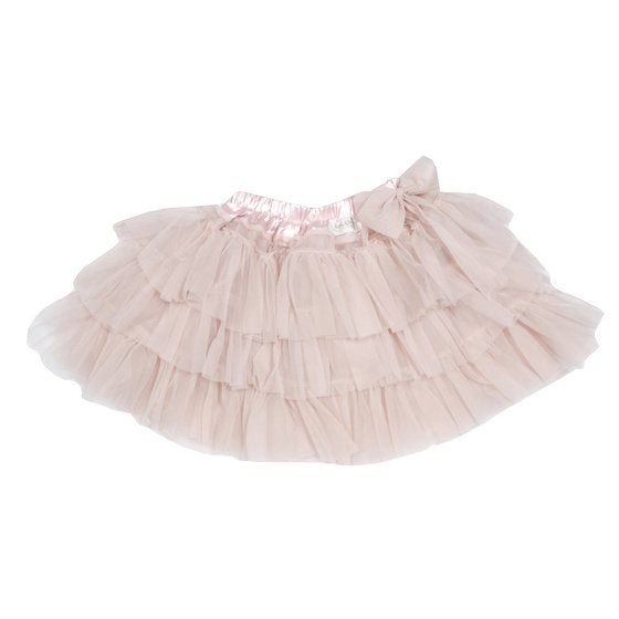 Layered Tutu Skirt with Bow
