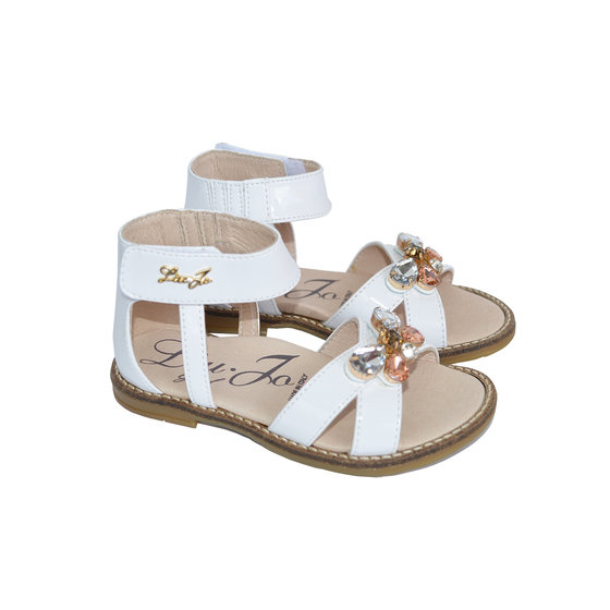 Baby Girls / Toddlers Patent Leather Sandals With Gems