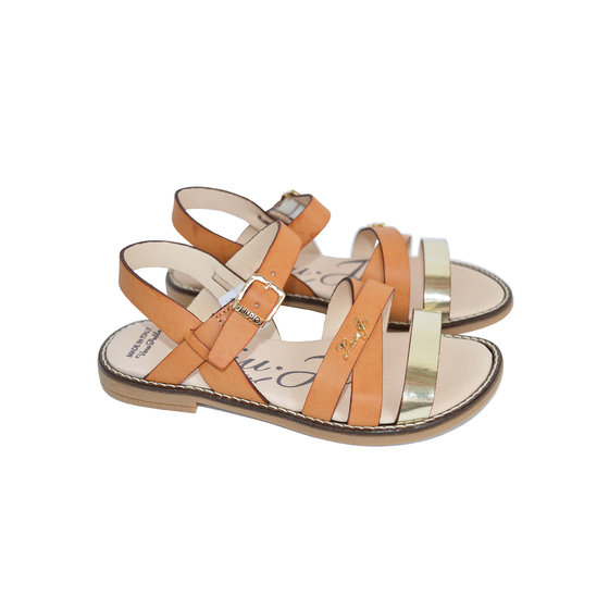 Girls Multi Straps Leather Sandals