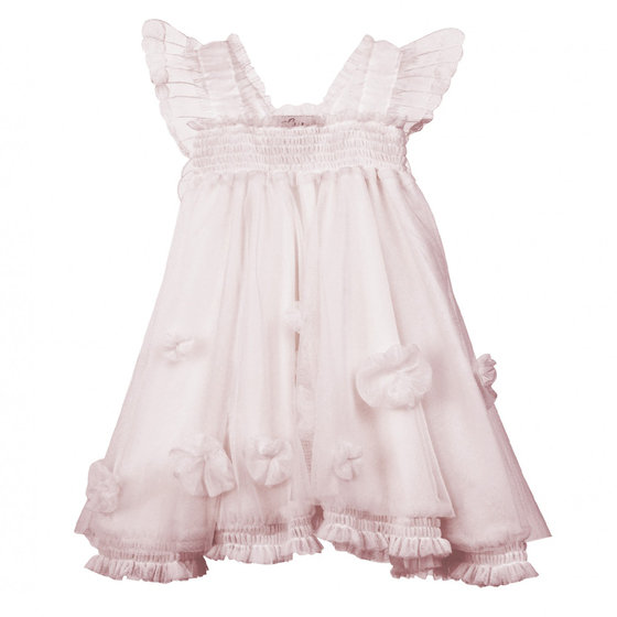 Cloudine Dress in Ballet Pink