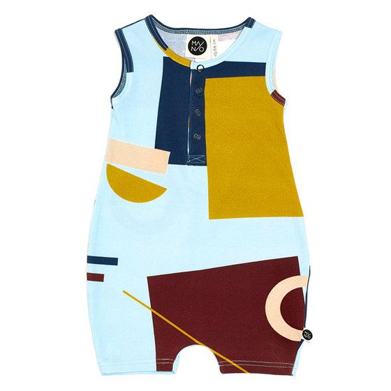 "Colorful Printed ""Voima"" One-piece"