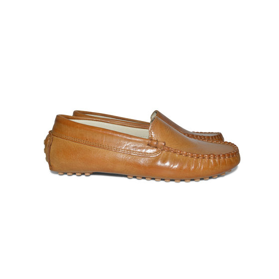 Boys Brown Leather Loafers