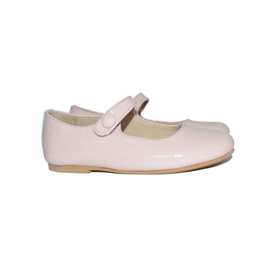 Girls Light Pink Leather Mary Jane Shoes