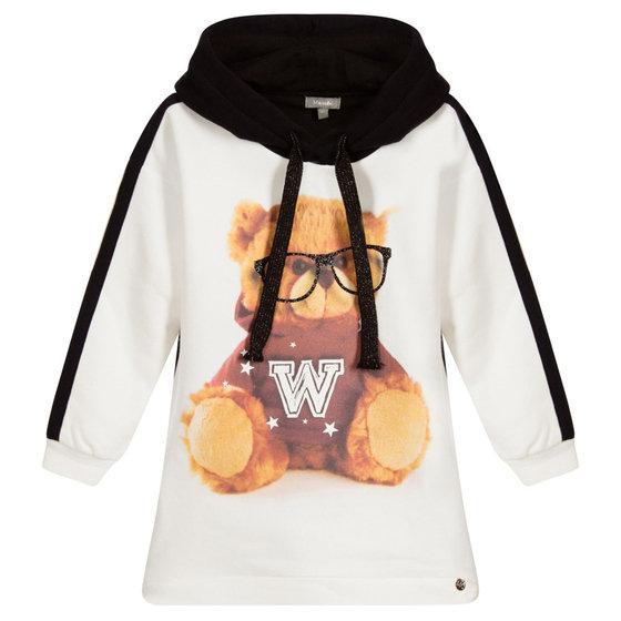 Little Girls Romeo Teddy Bear Sweatshirt Dress