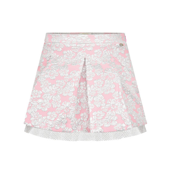 Pink and silver brocade skirt