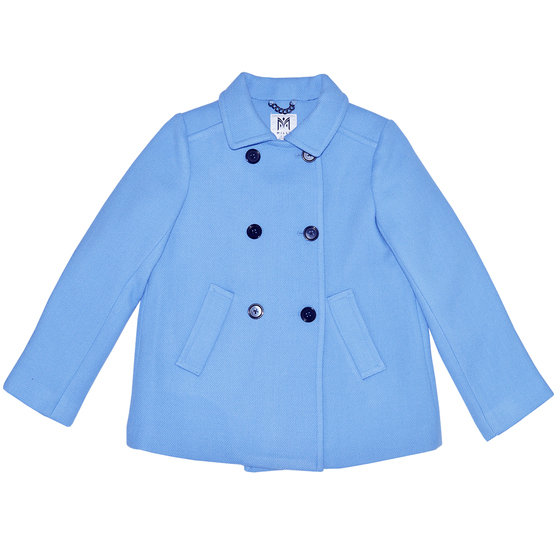 Girl Double Breasted Wool Peacoat
