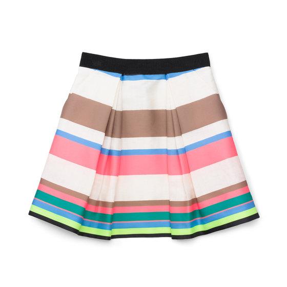 Fluo Stripe 3/4 Katie Skirt