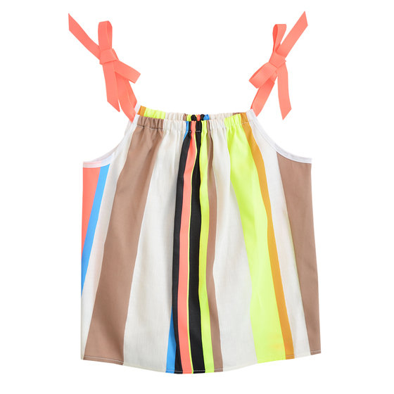Fluo stripe bow tie camisole