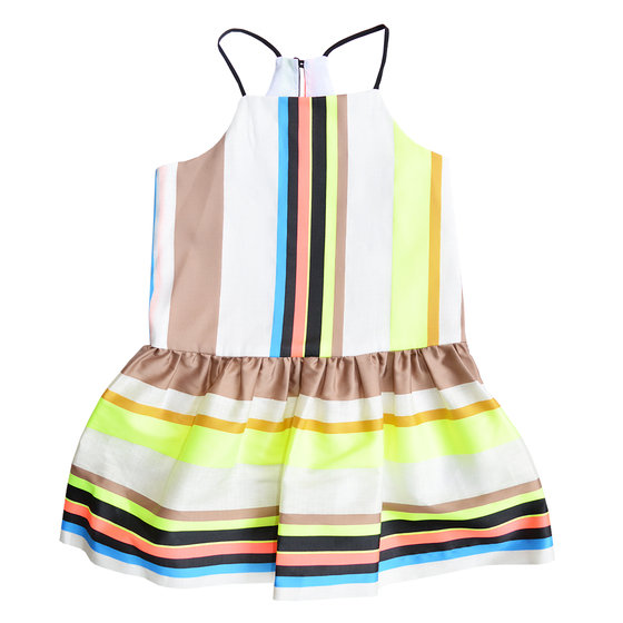 Fluo Stripe Strappy Dress