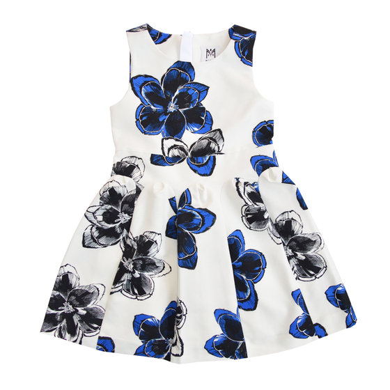 Magnolia Print Fit and Flare Dress