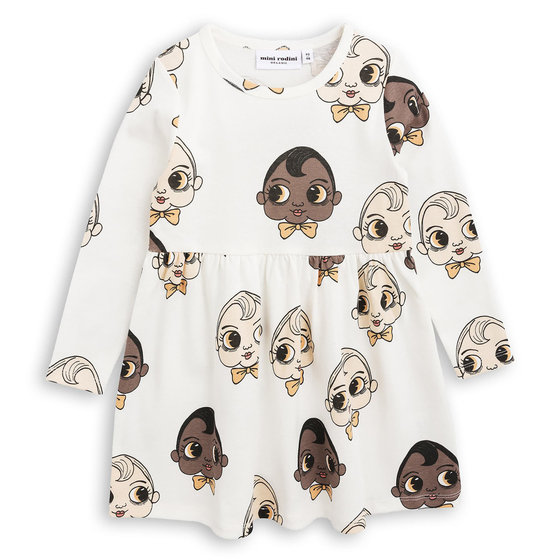 Babies Print Long Sleeves Dress