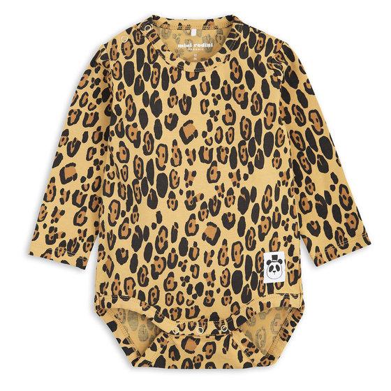 Basic Leopard Long Sleeve Bodysuit