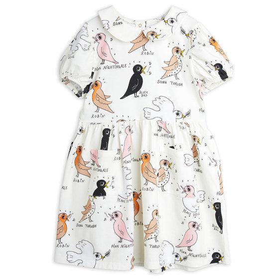 Birdswatching AOP Puff Sleeve Dress