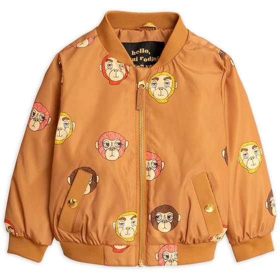 Brown Monkey AOP Baseball Jacket