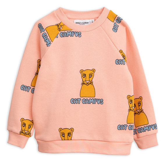 Pink Cat Campus Sweatshirt