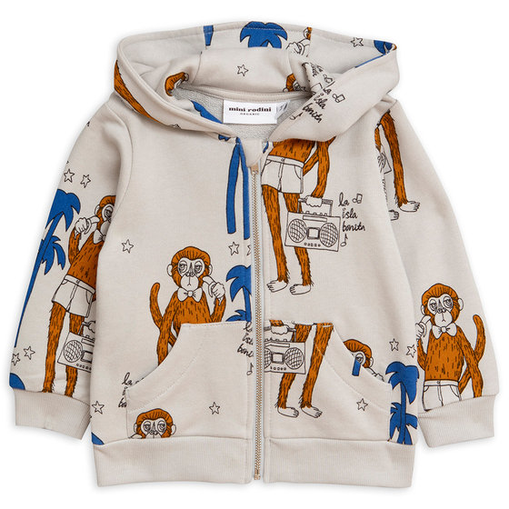 New Season: Cool Monkey AOP Zip Hoodie