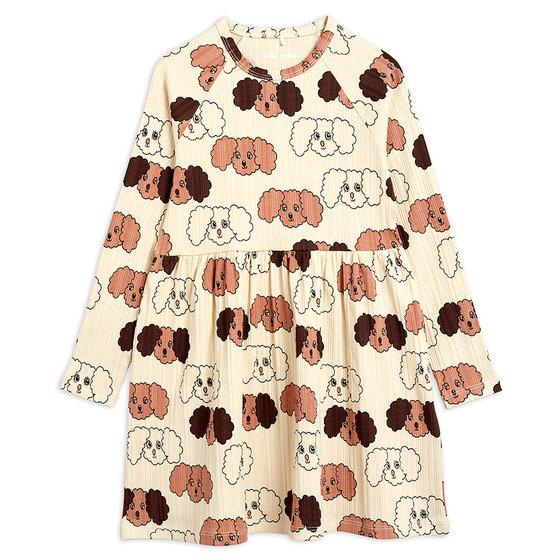 Fluffy Dog AOP LS Dress