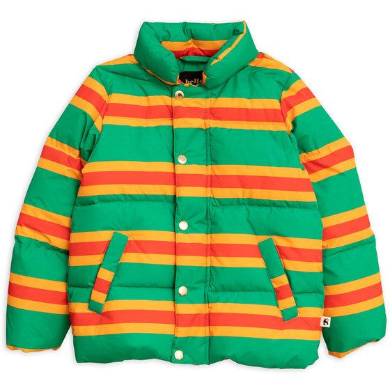 Green Stripe Puffer Jacket