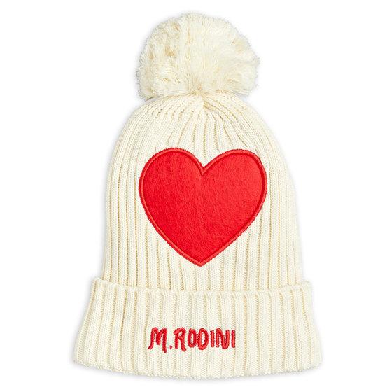 Heart Pompom Hat