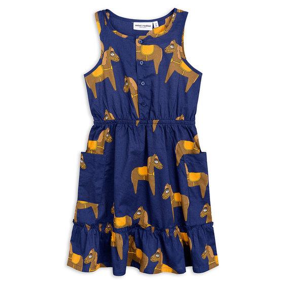 Horse Woven Flounce Dress