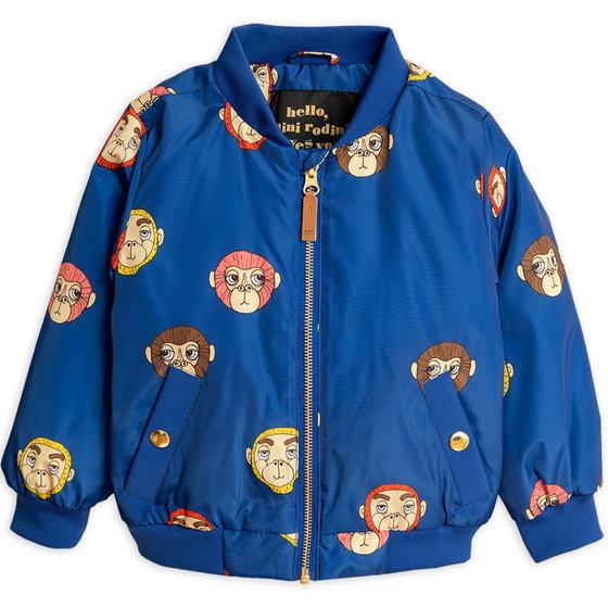 Blue Monkey AOP Baseball Jacket