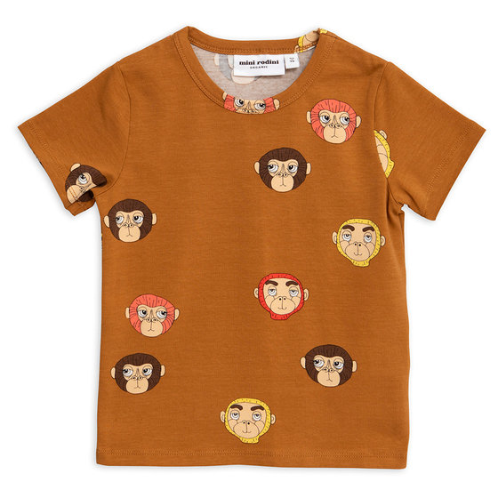 Brown Monkey AOP SS Tee
