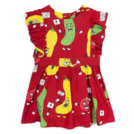 Veggie Woven Ruffle Dress