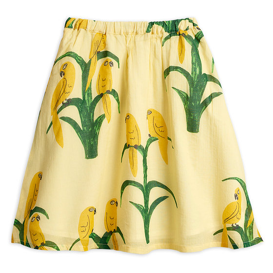 Parrot Woven Long Skirt