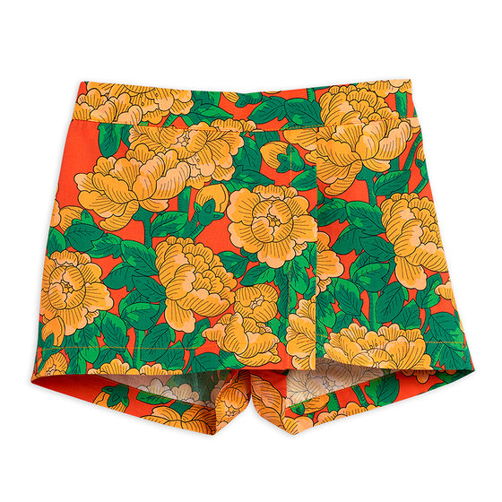 Peonies Woven Divided Skirt
