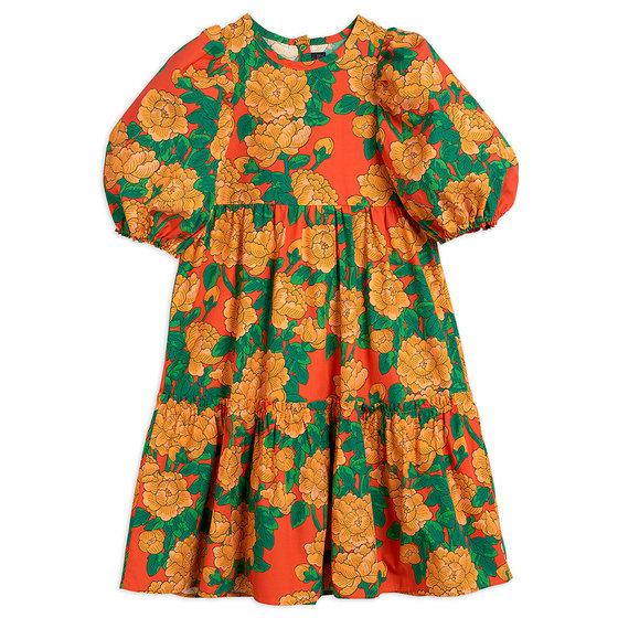 Peonies Woven Puff Sleeve Dress