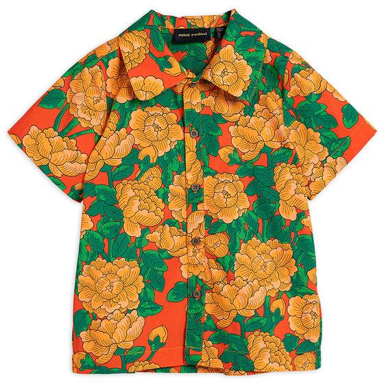 Peonies Woven SS Shirt