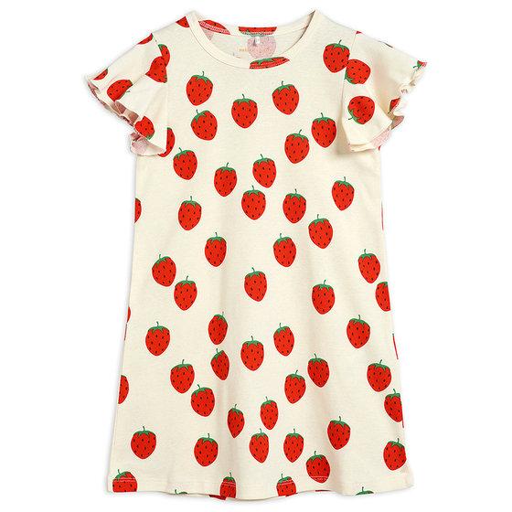 Strawberry AOP Wing Dress