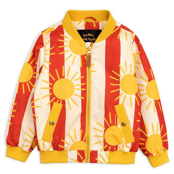 New Season: Sun Stripe Baseball Jacket