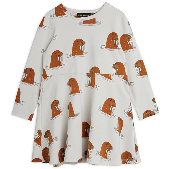 Walrus AOP LS Dress