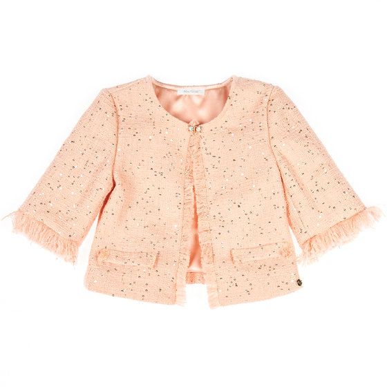 Classic Tweed Peach Jacket