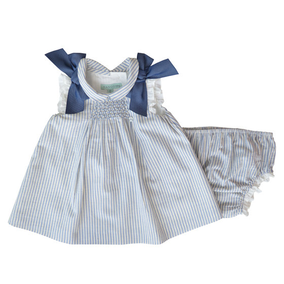 Sleeveless Ribbon A-line Dress with Bloomers