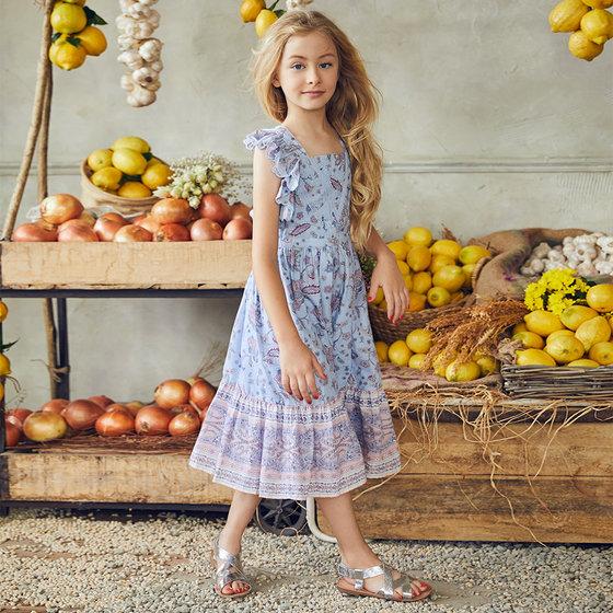 Elina Dress in Paisley Flower