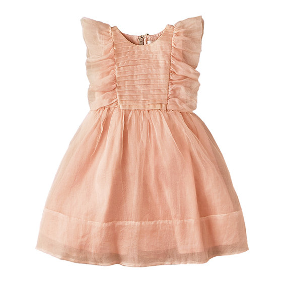 Peach silk dress