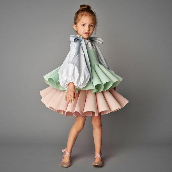 Bell Dress in Pastel